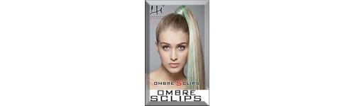 Ombre Sclips - końcówki w różnych kolorach